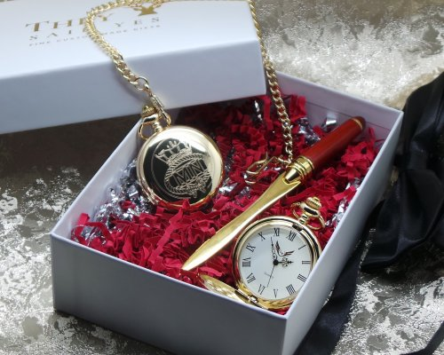 MERCHANT NAVY POCKET WATCH AND LETTER OPENER GIFT SET