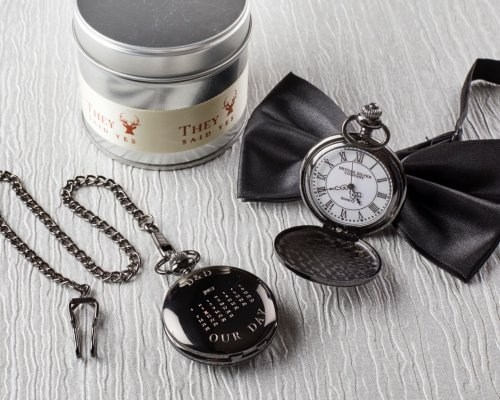 OUR DAY BLACK POCKET WATCH