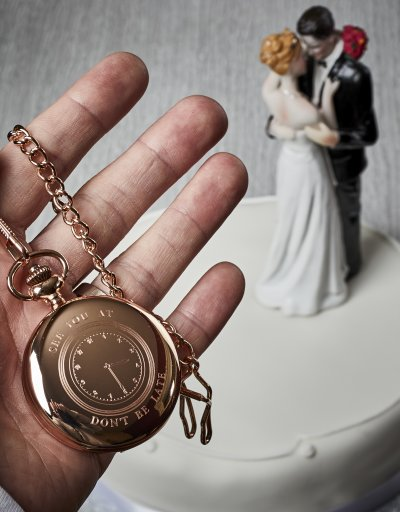 PERSONALISED CLOCK FACE ROSE GOLD WEDDING WATCH AND PRESENTATION CASE