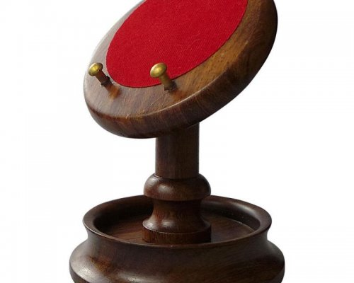 HAND CRAFTED WOODEN POCKET WATCH DISPLAY STAND
