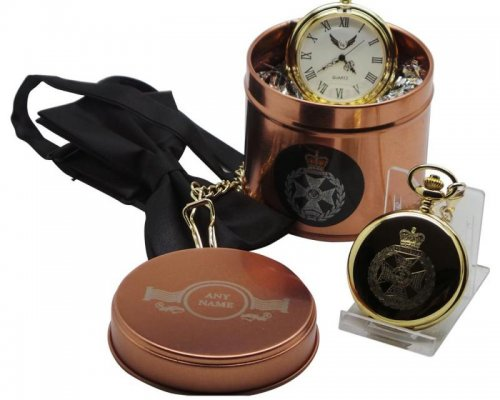 ROYAL GREEN JACKETS GOLD PLATED POCKET WATCH
